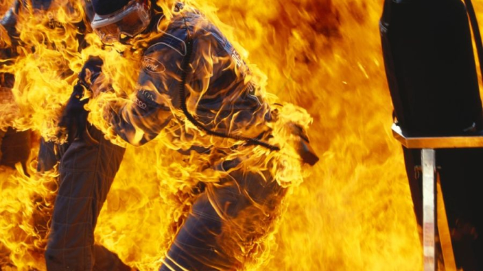 Throwback Thursday: Auto van Verstappen vliegt in brand op Hockenheimring