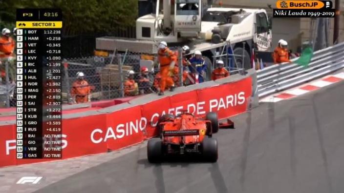 VIDEO: Vettel hits Monaco barriers in Saturday practice!