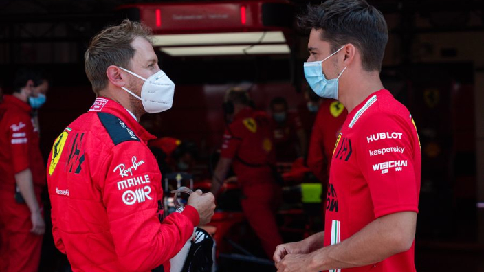 In pictures: Vettel and Leclerc reunited as Ferrari prepare for new season at Mugello