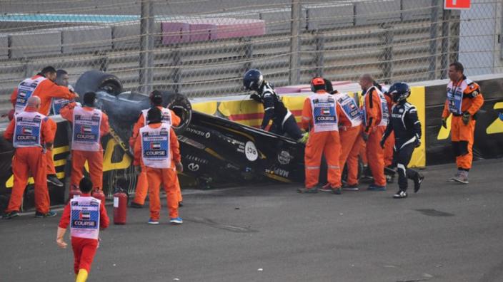 Hülkenberg nuchter over zware crash: 'Zo heftig was het niet'