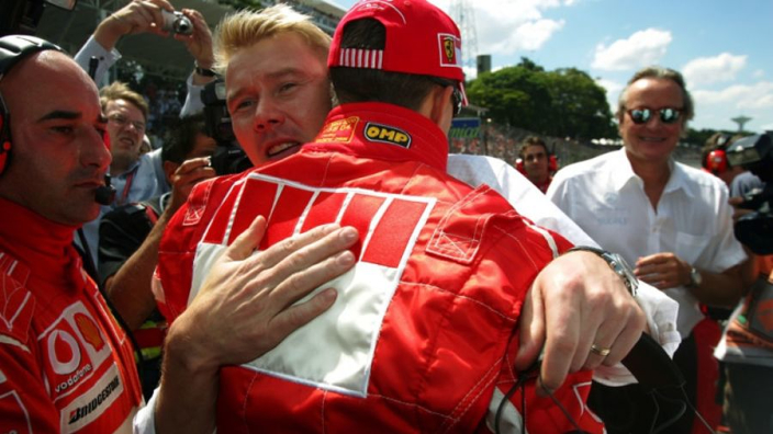 """Mika Häkkinen: """"Geef alsjeblieft niet op, Michael!"""""""