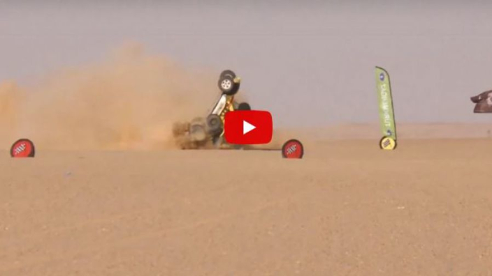 VIDEO: HUGE crash in the Africa Eco Race!