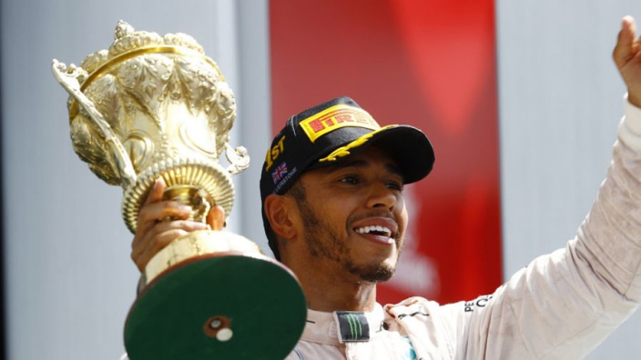 Hamilton insists he doesn't have 'one hand' on the title