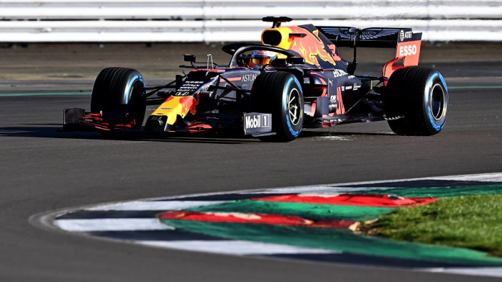 In beeld: De shakedown van Max Verstappen op Silverstone