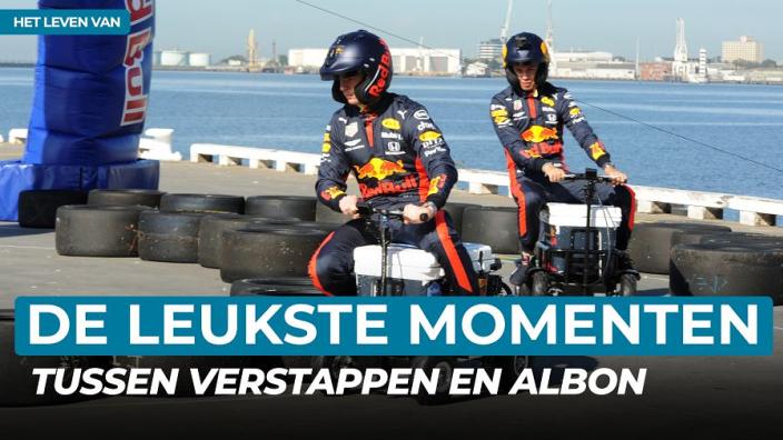 De meest hilarische momenten van Max Verstappen en Alex Albon   Het leven van Albon