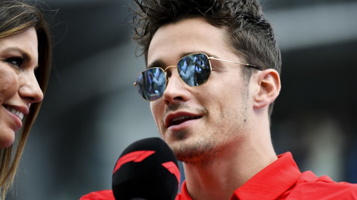 What Leclerc said in Italian after winning in Monza