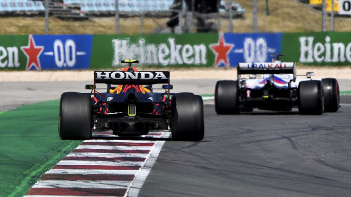 """Mazepin penalised for Perez """"near-collision"""" and not ignoring blue flags - FIA"""