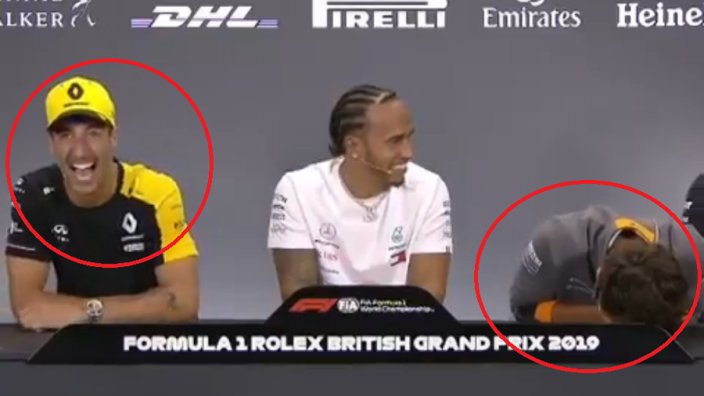 VIDEOS: Ricciardo's 'pubes' joke reduces Norris to tears!
