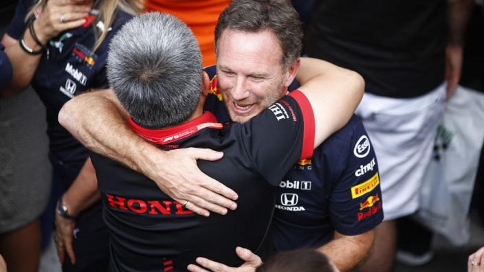 """Horner: """"Honda enige leverancier die in hybride-tijdperk met twee teams gewonnen heeft"""""""