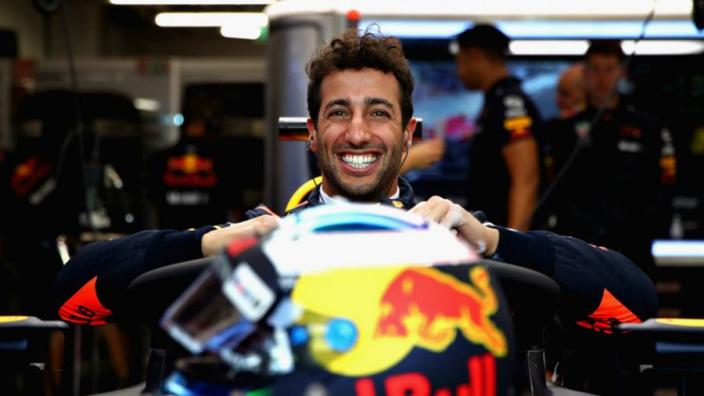 Sneak peek of Daniel Ricciardo's 2019 helmet?