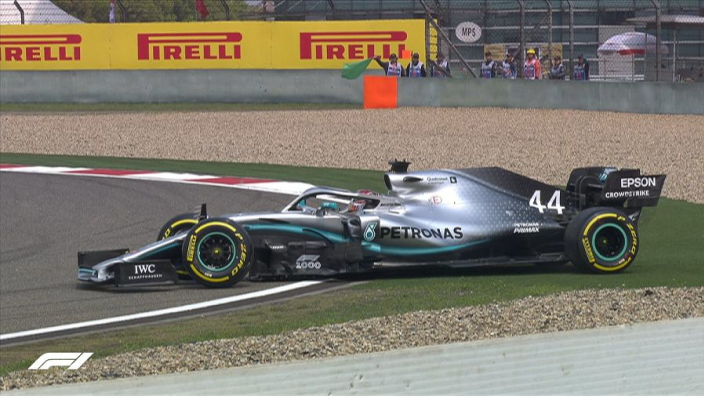 VIDEO: Embarrassing spin for Hamilton!