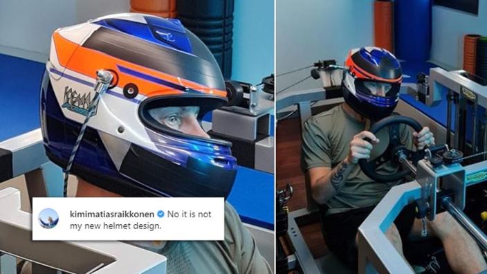 HAHA! Raikkonen laat NIET zijn nieuwe helmdesign voor 2021 zien