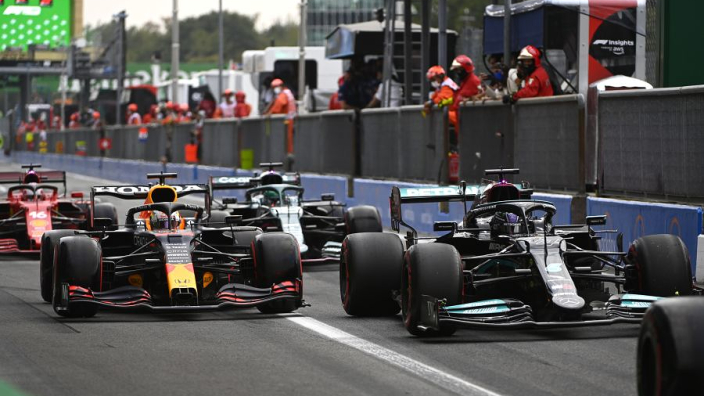 Aston Martin and Alpine hit with fines after pit lane chaos