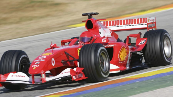 VIDEO: Schumacher's Ferrari F2004 V10 screams down Goodwood!