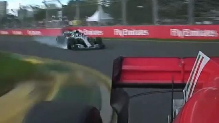 VIDEO: De strijd tussen Vettel en Hamilton in Australië