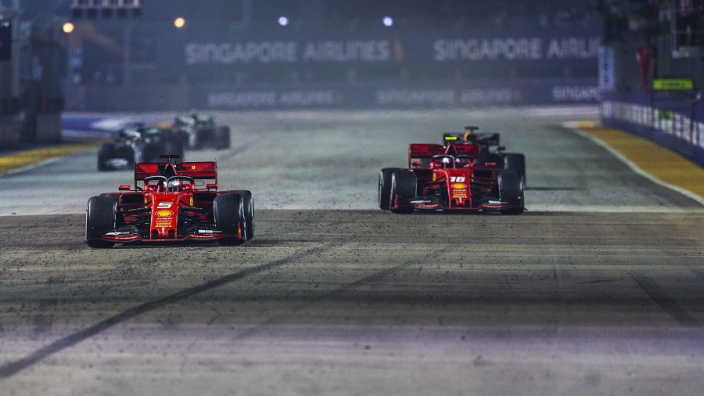 Ferrari explain Leclerc-Vettel strategy from Singapore