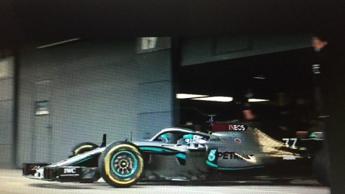 After a 102-day wait, an F1 car hits the track as Mercedes conducts protocol test