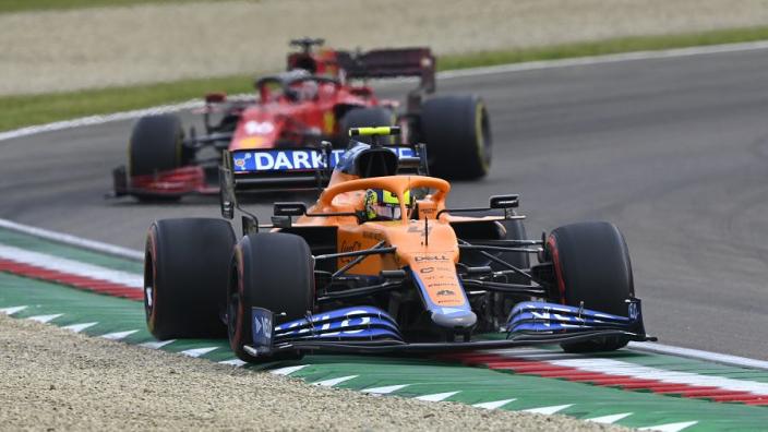 "Leclerc relishes ""very tight"" Ferrari-McLaren fight for third"
