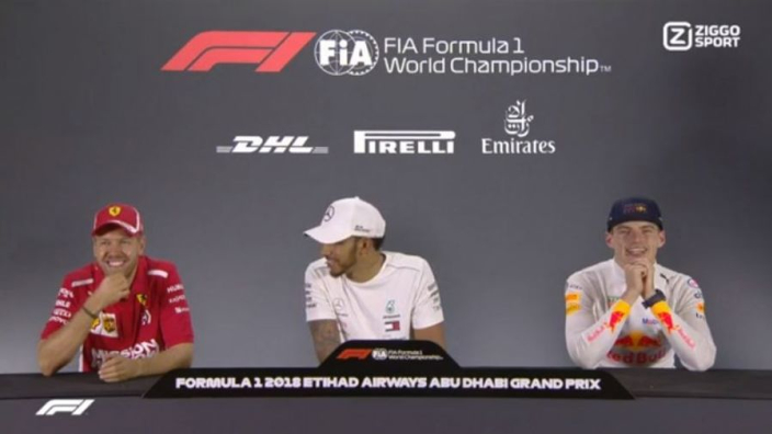 VIDEO: Vettel gives Hamilton and Verstappen advice on 'baby-making'