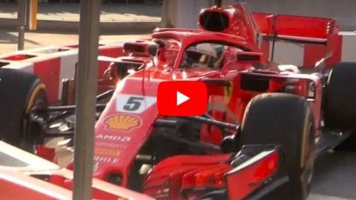 VIDEO: Vettel CRASHES in Ferrari demo run