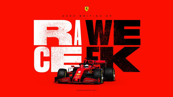 Ferrari 'zorgt voor vraagtekens' met raceposter GP Groot-Brittannië