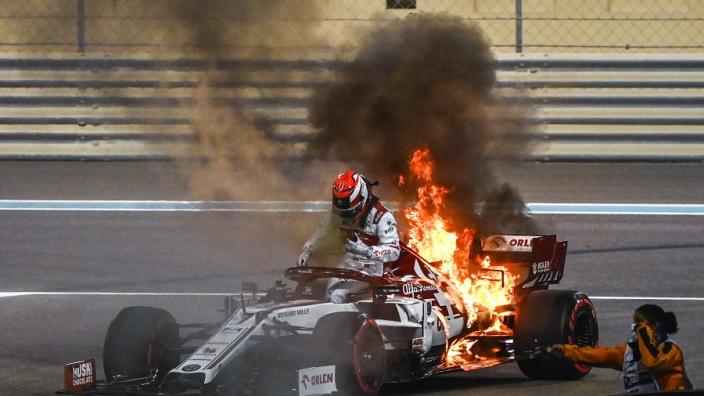 Ice-cool Raikkonen brushes off session-ending Alfa Romeo blaze