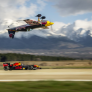 Coulthard goes eyeball to eyeball with inverted air race pilot in latest crazy Red Bull stunt