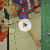 Dronken voetballen voor een experimentje